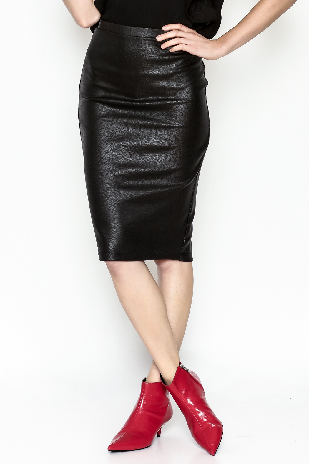 Jack by BB Dakota Chloe Snakeskin Skirt - Main Image