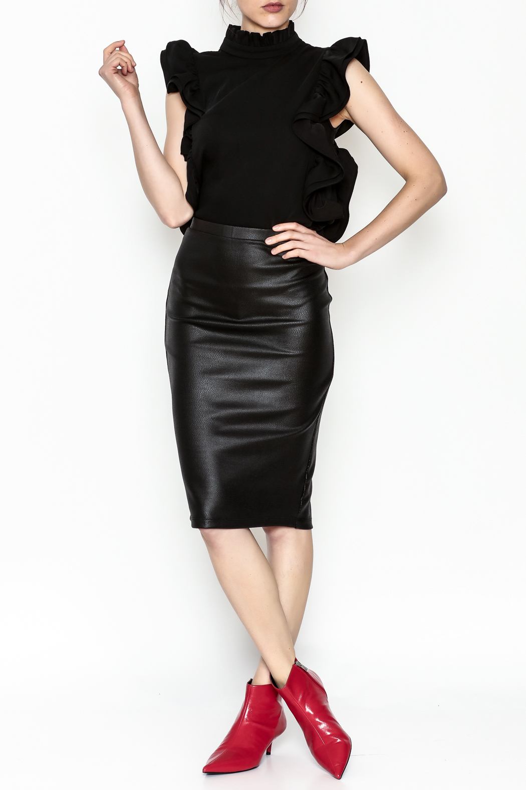 Jack by BB Dakota Chloe Snakeskin Skirt - Side Cropped Image