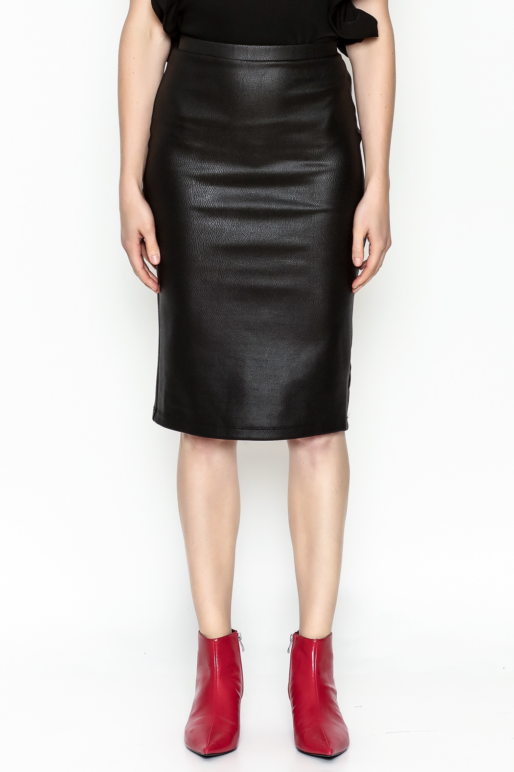 Jack by BB Dakota Chloe Snakeskin Skirt - Front Full Image