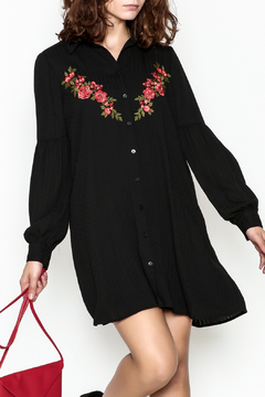 Shoptiques Product: Embroidered Black Dress