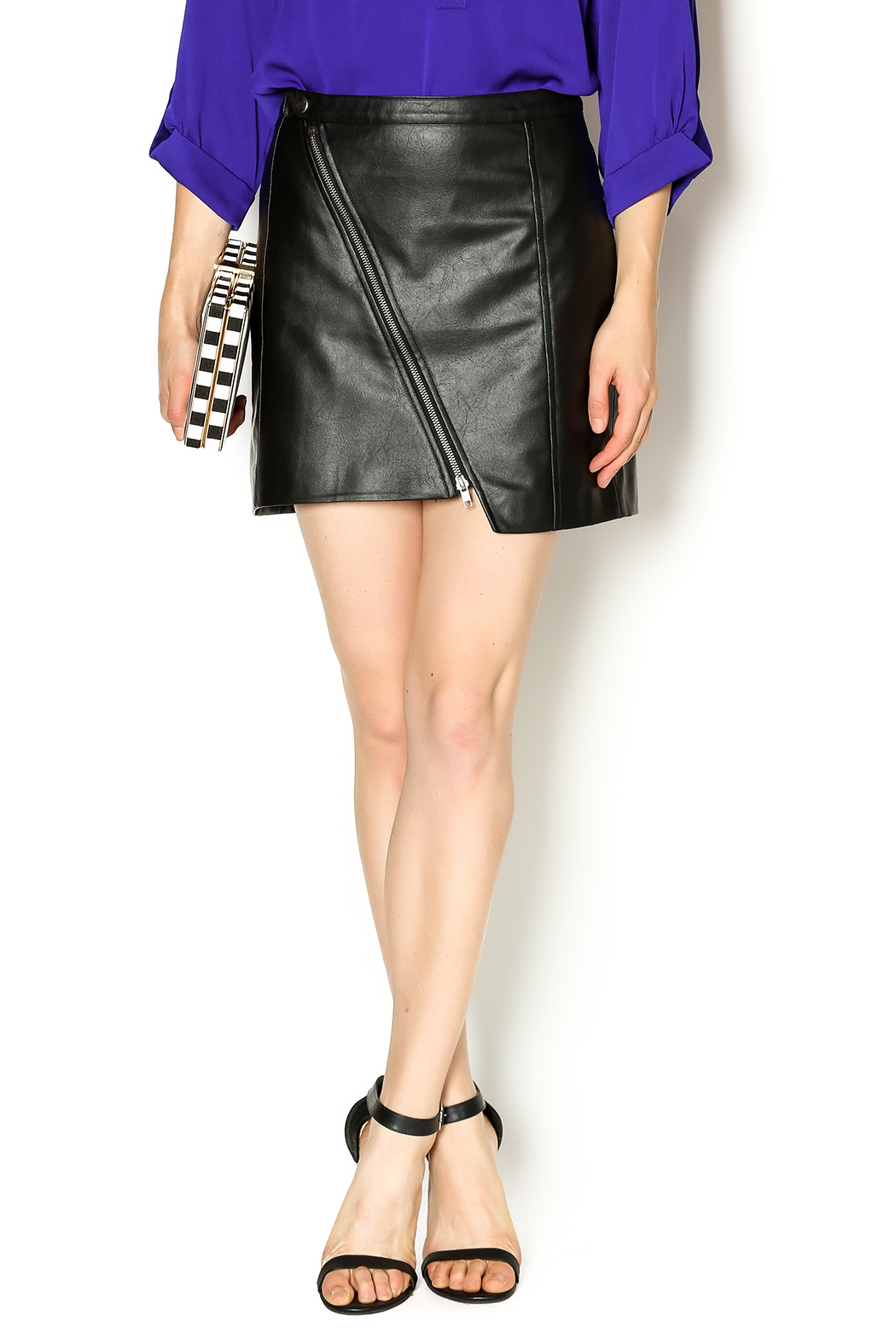 by bb dakota faux leather skirt from new york by