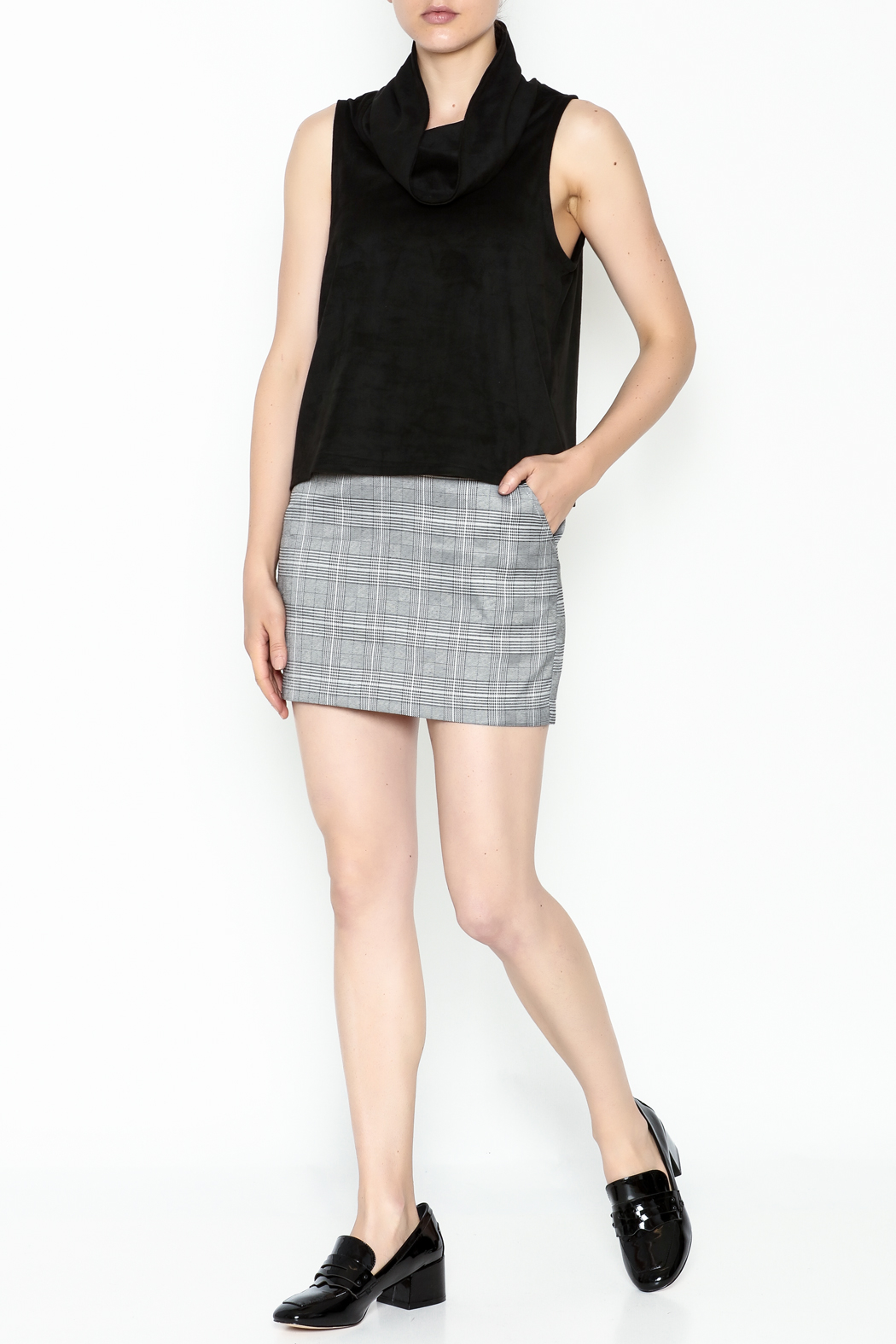Jack by BB Dakota Faux Suede Top - Side Cropped Image