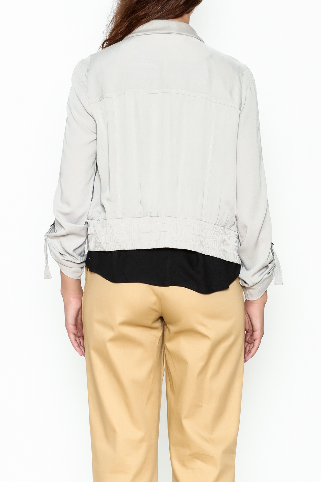 Jack by BB Dakota Grey Gayne Jacket - Back Cropped Image