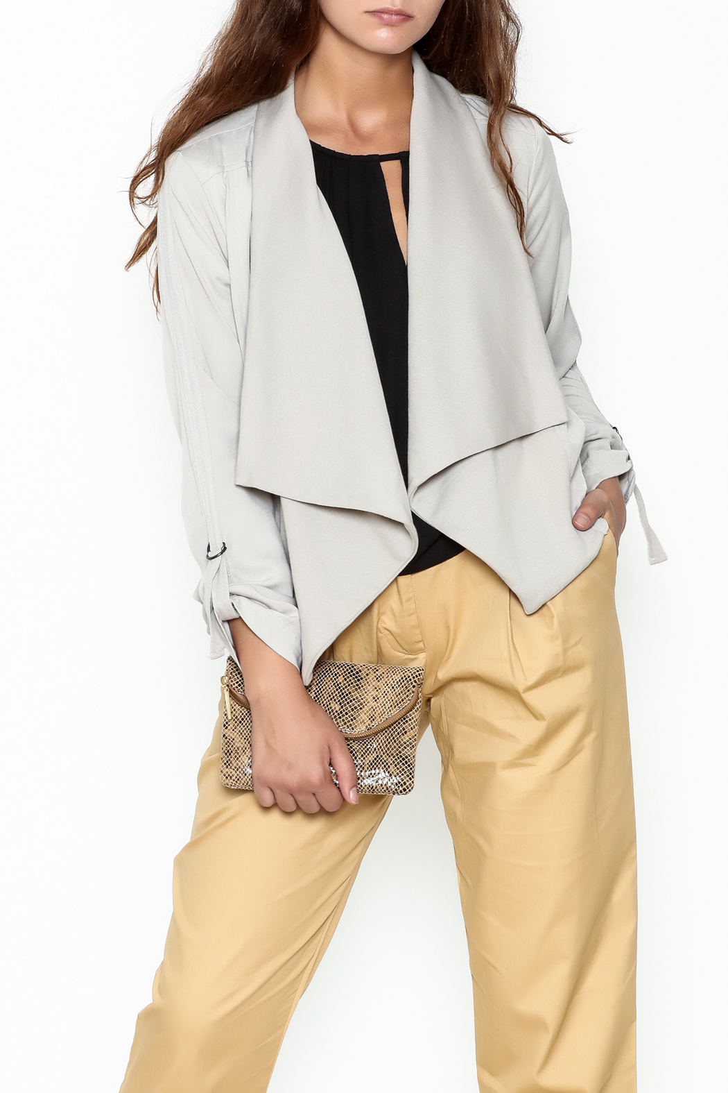 Jack by BB Dakota Grey Gayne Jacket - Main Image