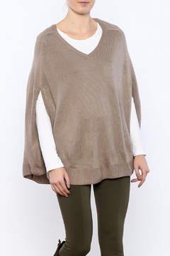 Shoptiques Product: Taupe Sweater Poncho