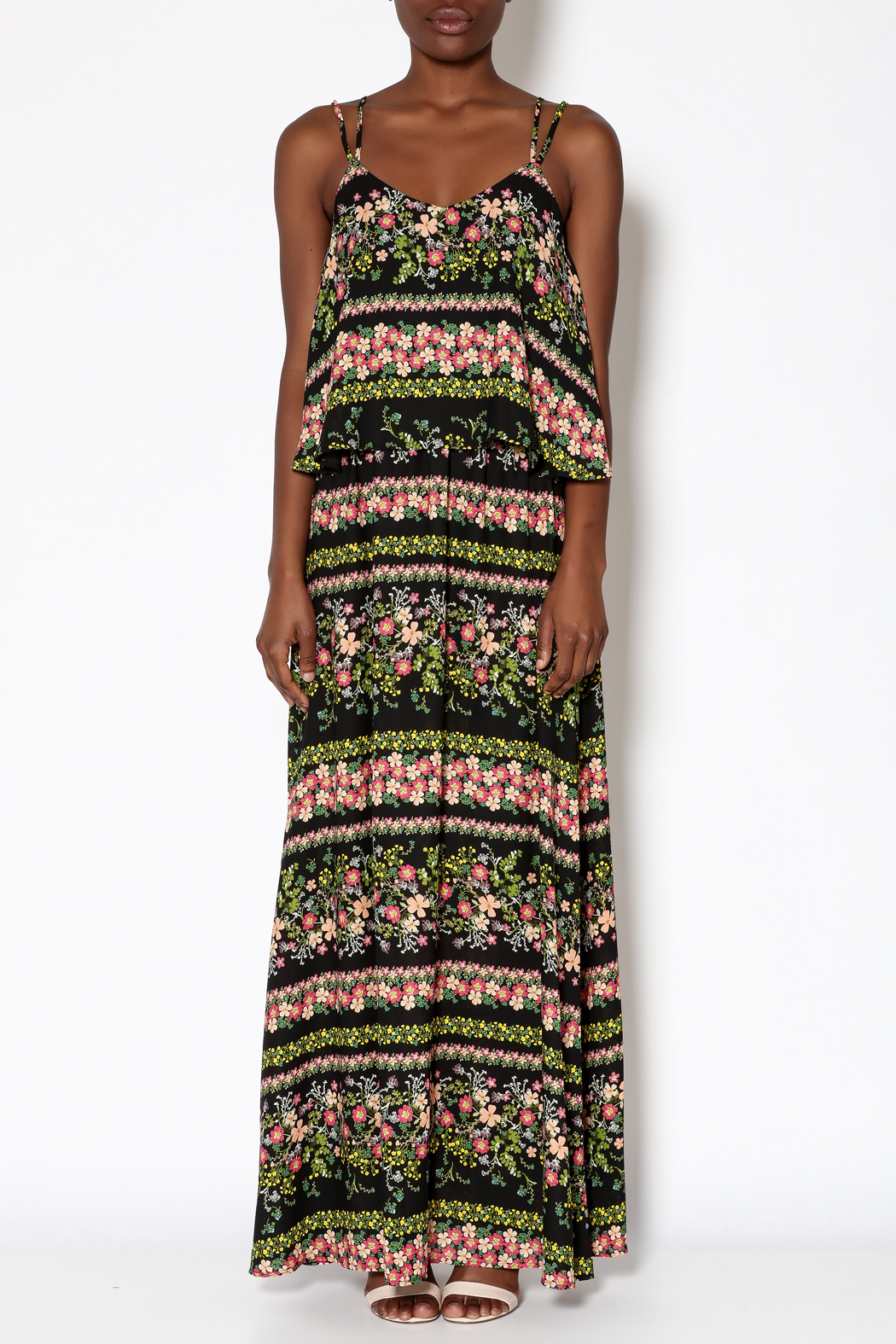 Jack Floral Maxi Dress - Front Cropped Image