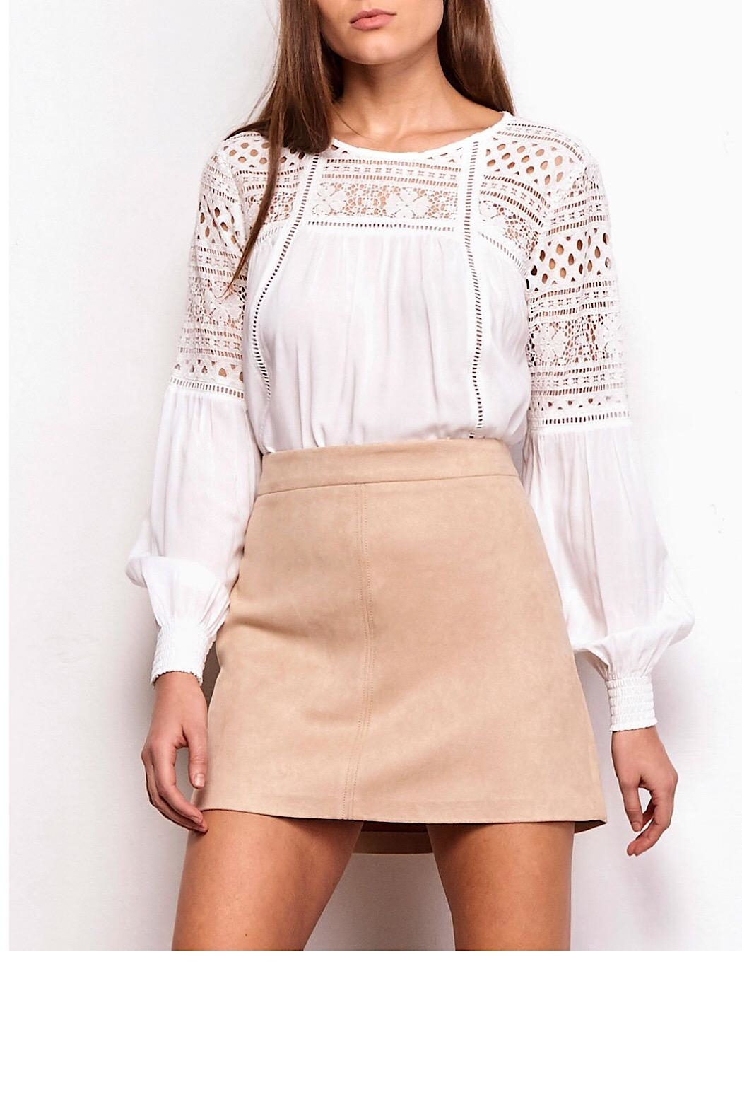 Jack by BB Dakota A-Line Faux-Suede Skirt - Main Image
