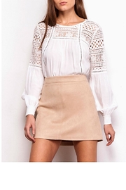 Jack by BB Dakota A-Line Faux-Suede Skirt - Front cropped