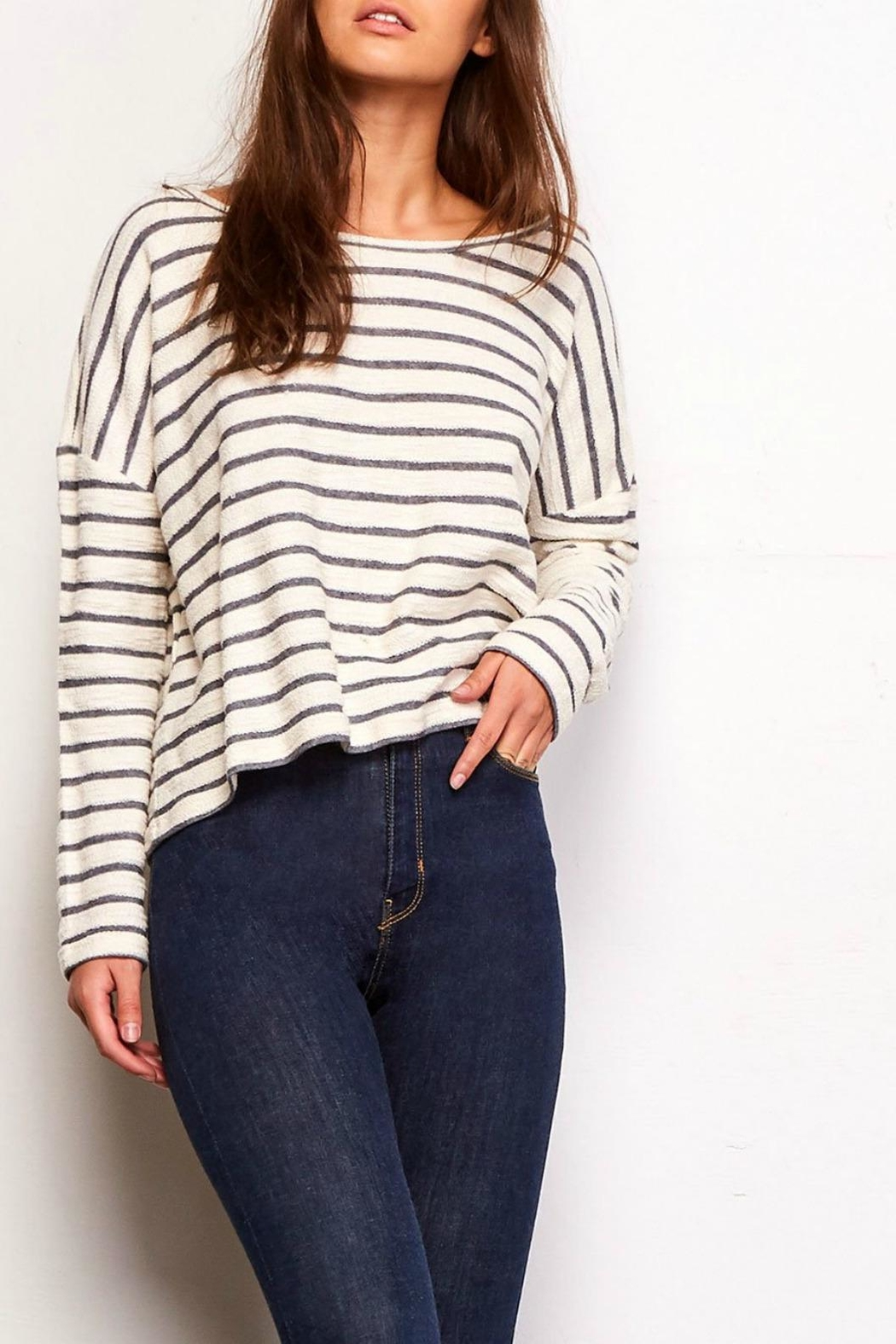 Jack by BB Dakota Allison Striped Sweater - Front Cropped Image