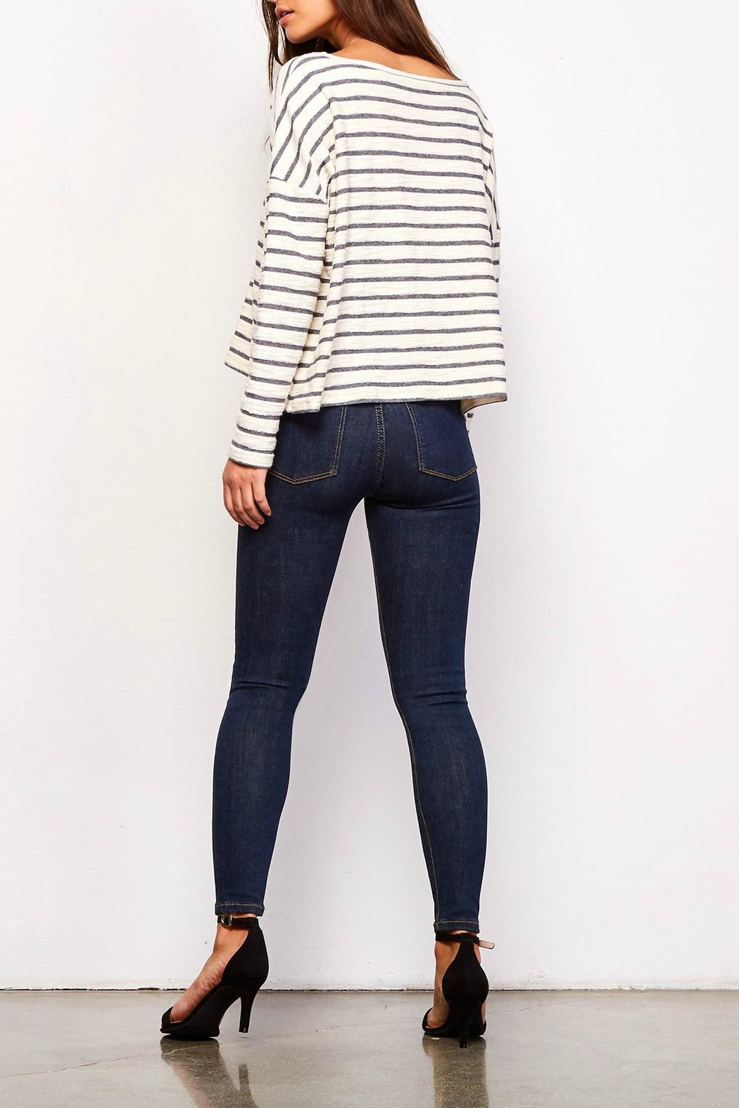 Jack by BB Dakota Allison Striped Sweater - Front Full Image