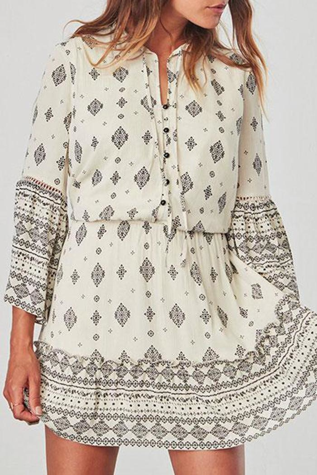 Jack by BB Dakota Andee Patterned Dress - Front Full Image