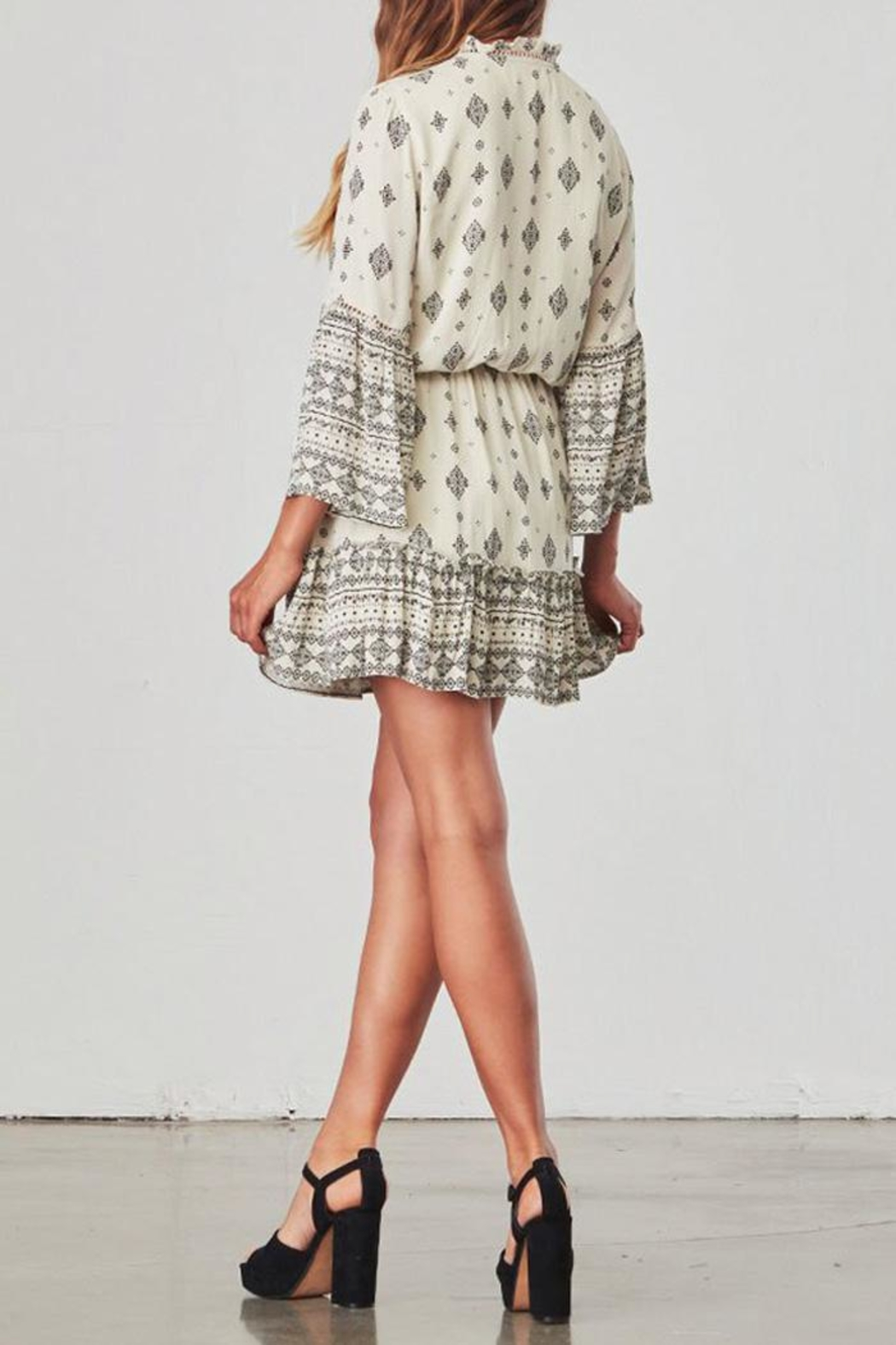 Jack by BB Dakota Andee Patterned Dress - Back Cropped Image