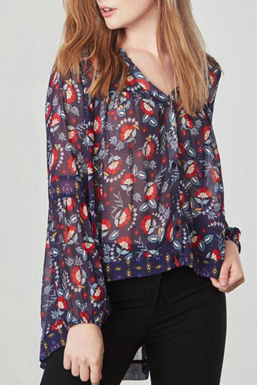 Jack by BB Dakota Andrea Floral Top - Front Full Image