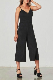 Jack by BB Dakota Black Suede Jumpsuit - Product Mini Image