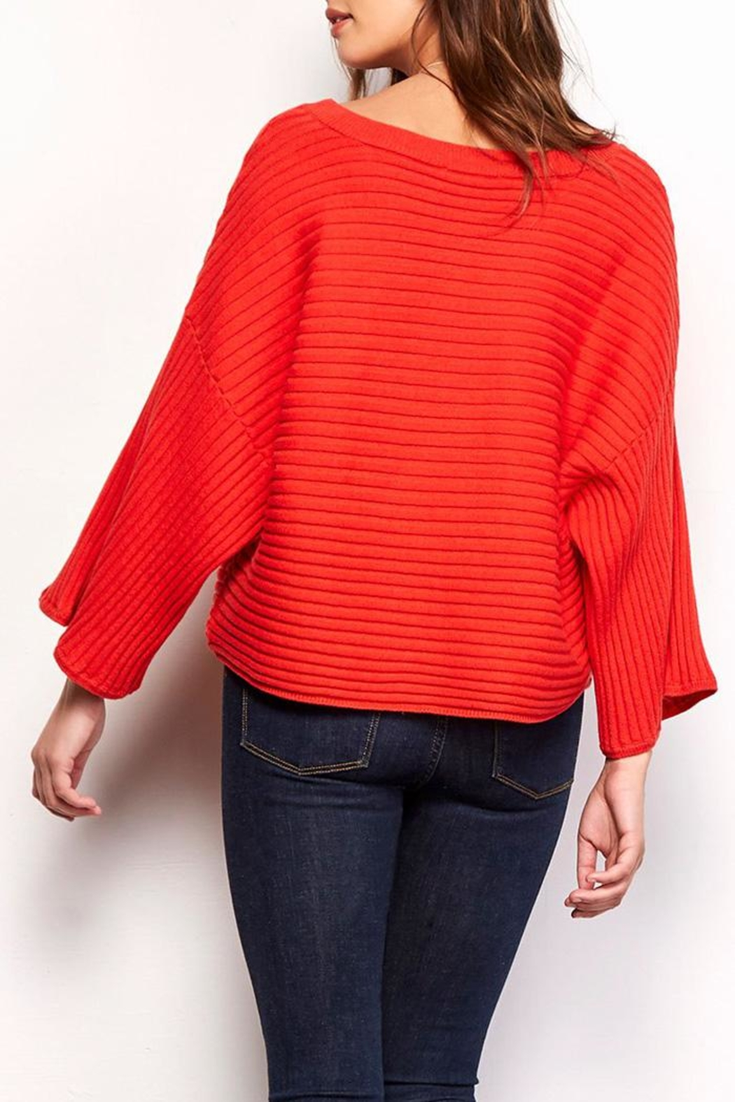 Jack by BB Dakota Claudel Red Sweater - Side Cropped Image