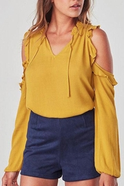 Jack by BB Dakota Cold Shoulder Blouse - Product Mini Image