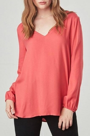 Jack by BB Dakota Coral Vneck Top - Product Mini Image