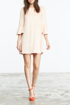 Shoptiques Product: Blush Faux Suede Dress