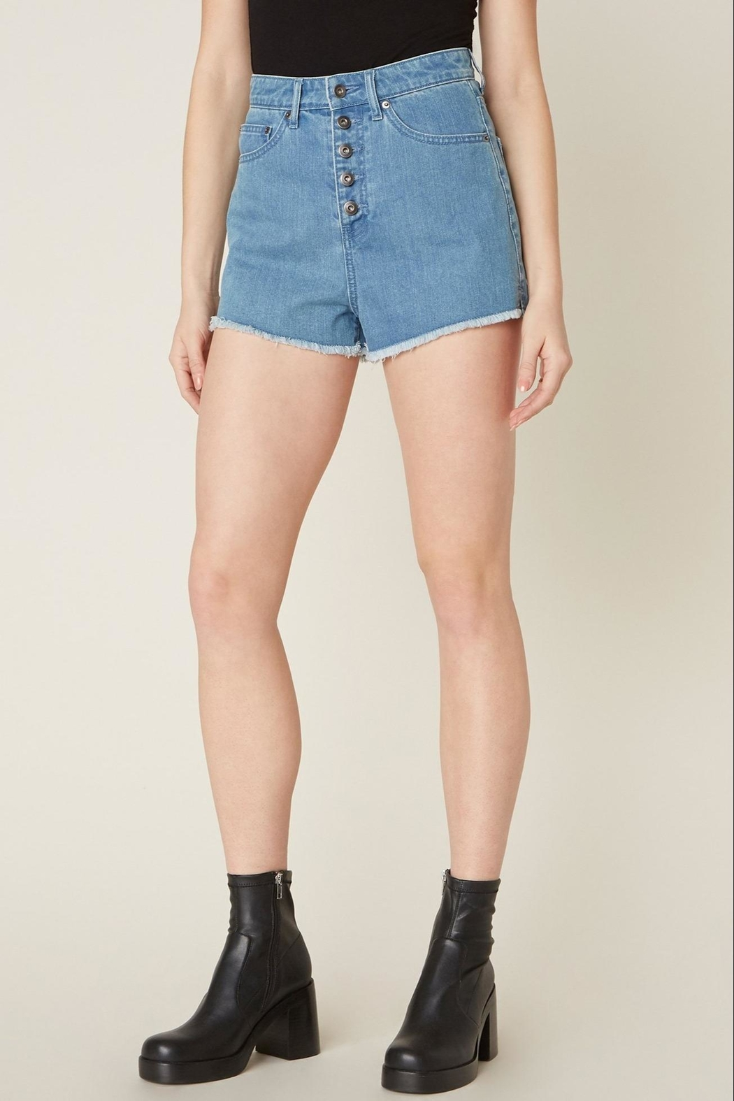 Jack by BB Dakota Down-To-Business Denim Short - Front Cropped Image