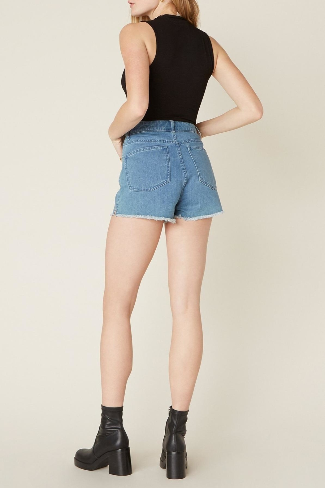 Jack by BB Dakota Down-To-Business Denim Short - Back Cropped Image