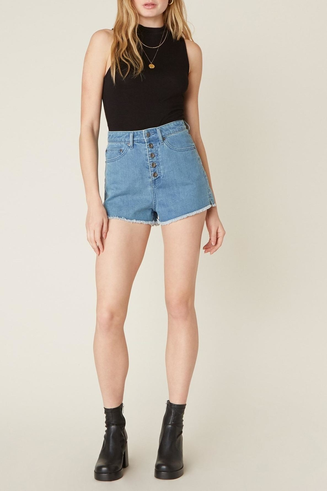Jack by BB Dakota Down-To-Business Denim Short - Side Cropped Image
