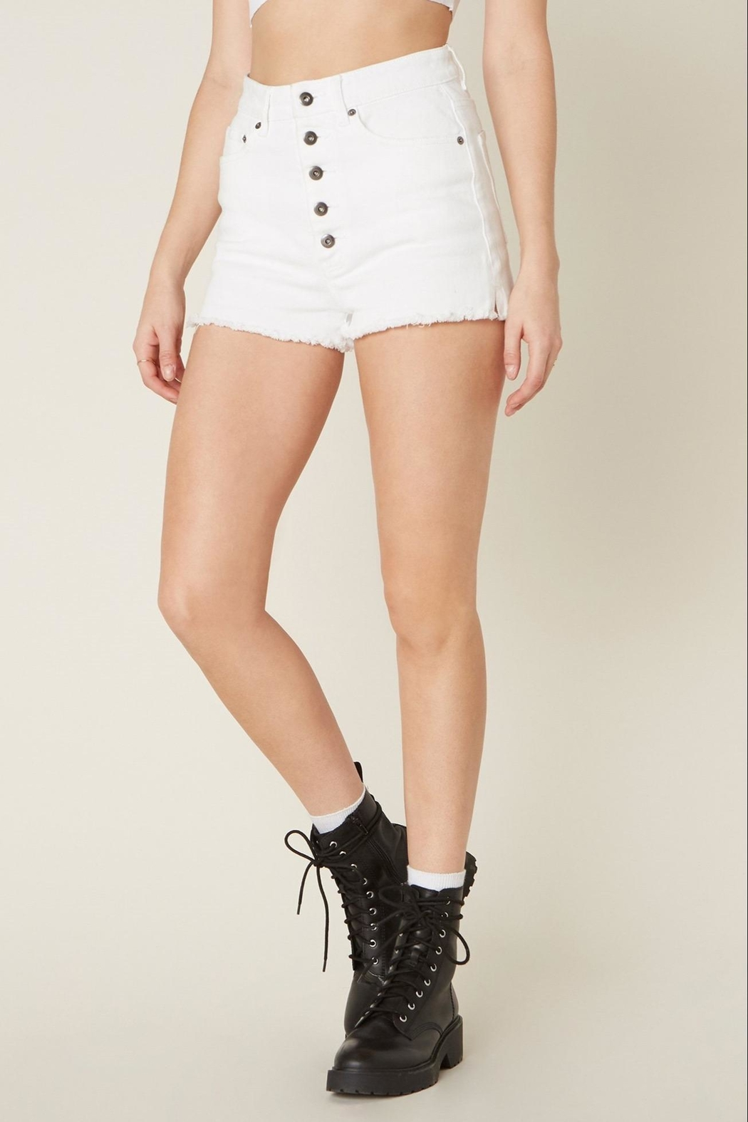 Jack by BB Dakota Down-To-Business Denim Short - Front Full Image