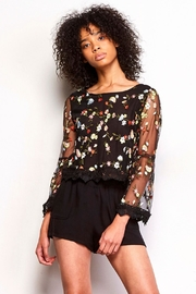 Jack by BB Dakota Embroidered Floral Blouse - Product Mini Image