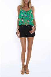 Jack by BB Dakota Green Flutter Tank - Product Mini Image