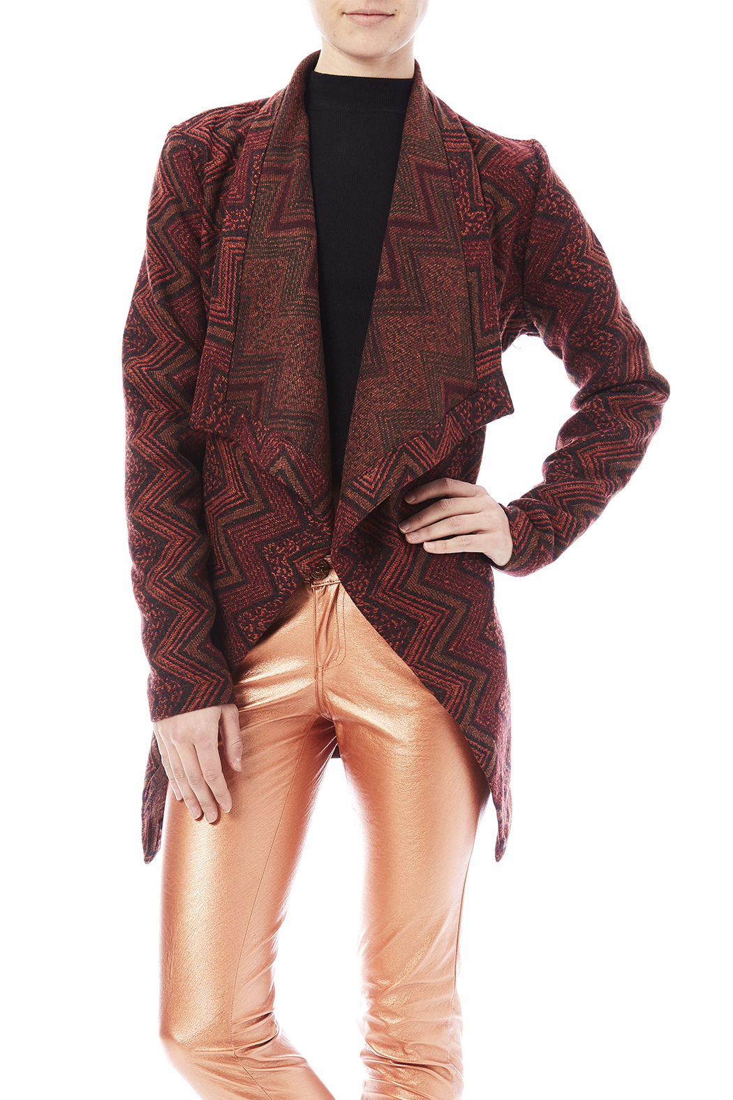 Jack by BB Dakota Heavenleigh Wrap Jacket - Front Cropped Image