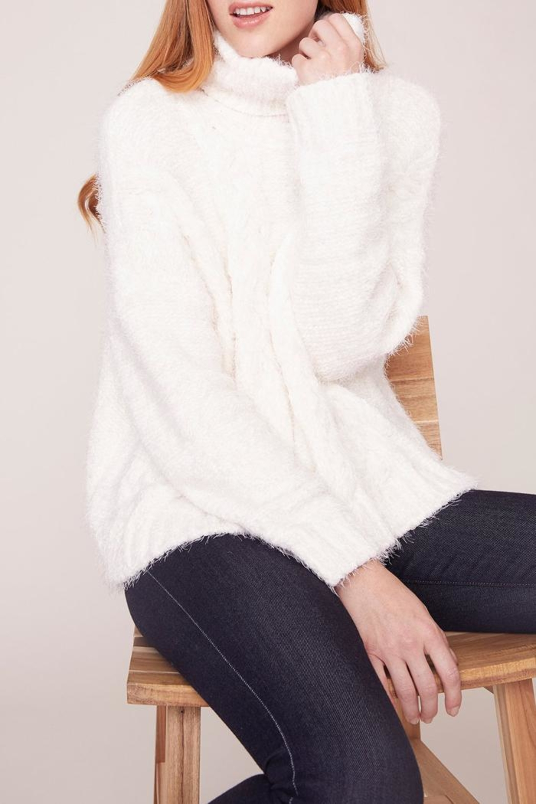 Jack by BB Dakota Kisses Cable-Knit Sweater - Front Full Image