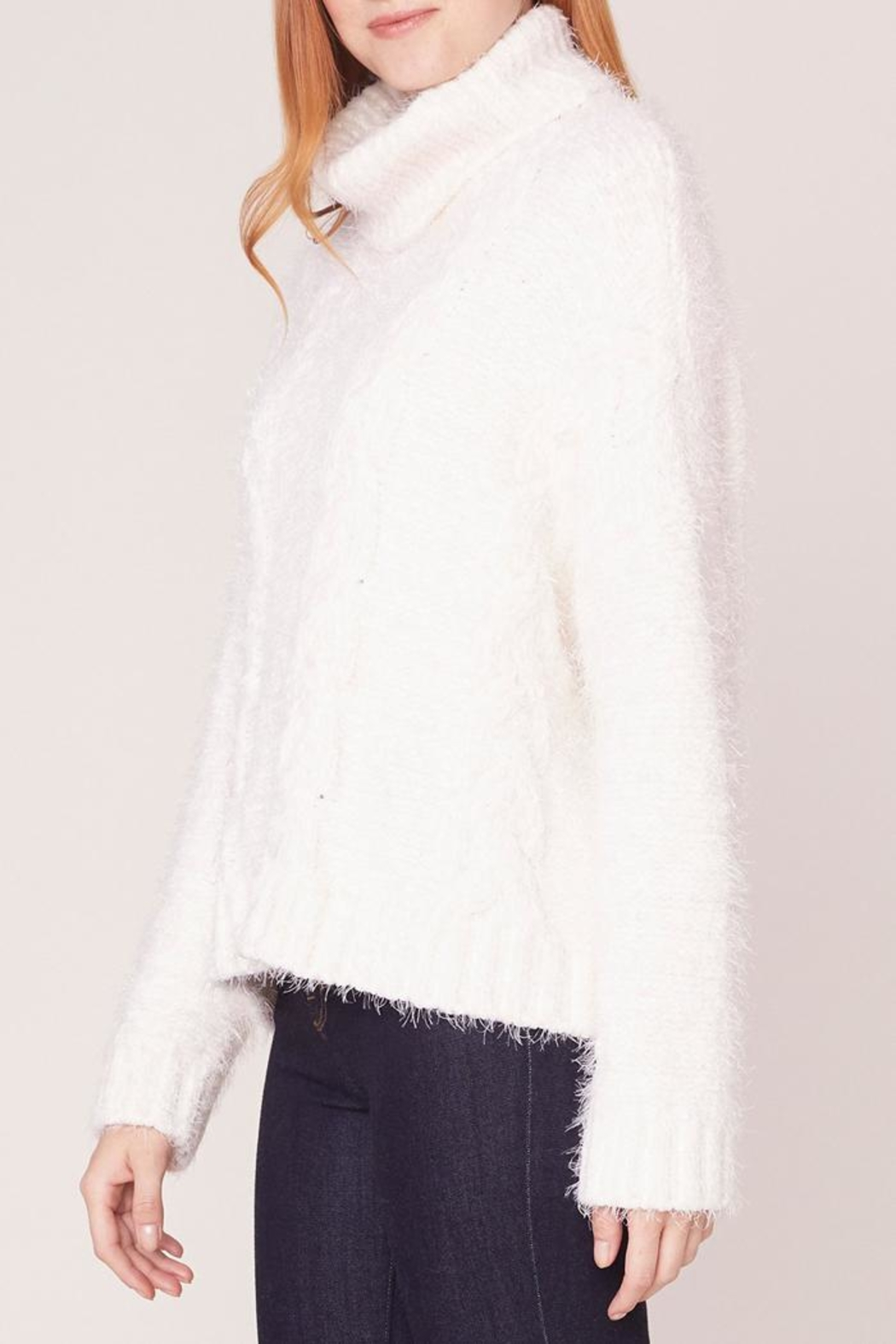 Jack by BB Dakota Kisses Cable-Knit Sweater - Side Cropped Image