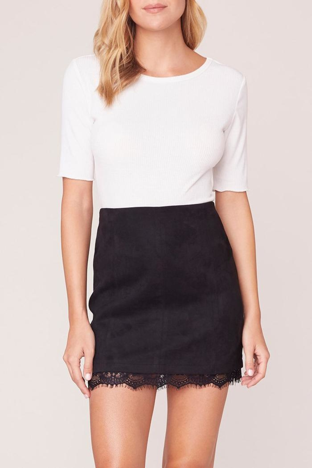 Jack by BB Dakota Lace Trim Skirt - Main Image