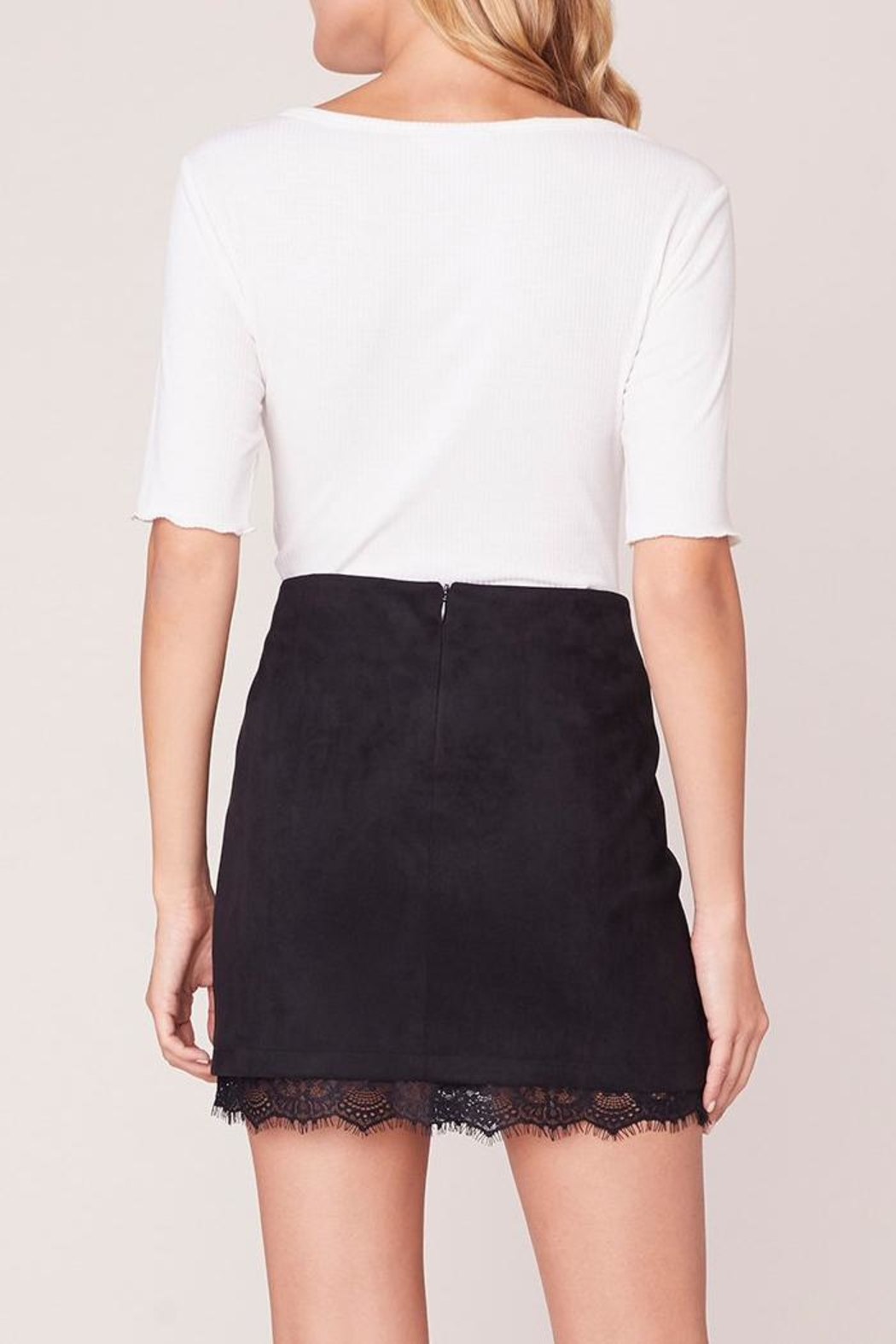 Jack by BB Dakota Lace Trim Skirt - Back Cropped Image