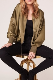 Jack by BB Dakota On-Duty-Satin Bomber Jacket - Product Mini Image
