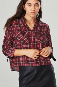 Jack by BB Dakota Plaid Crop Top - Product List Image