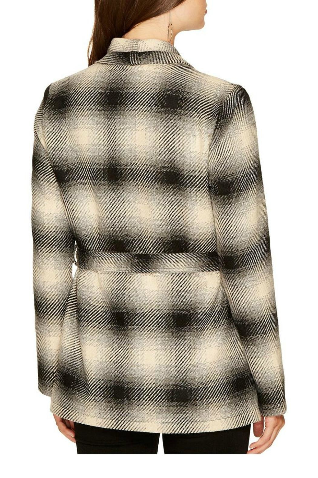 Jack by BB Dakota Plaid Wrap Jacket - Front Full Image