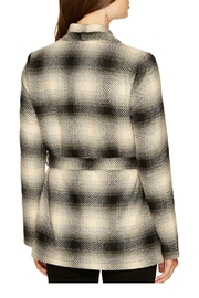 Jack by BB Dakota Plaid Wrap Jacket - Front full body