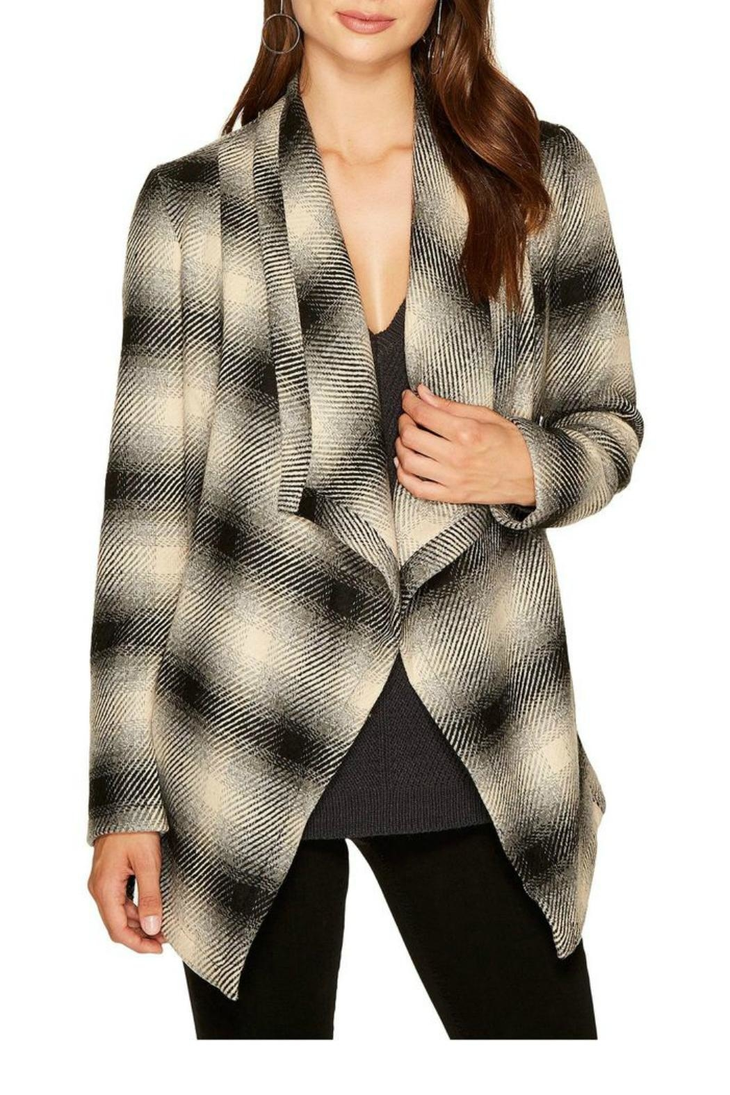 Jack by BB Dakota Plaid Wrap Jacket - Main Image