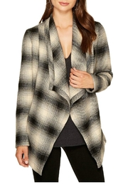 Jack by BB Dakota Plaid Wrap Jacket - Front cropped