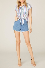 Jack by BB Dakota Shirt-Feelings Striped Blouse - Back cropped