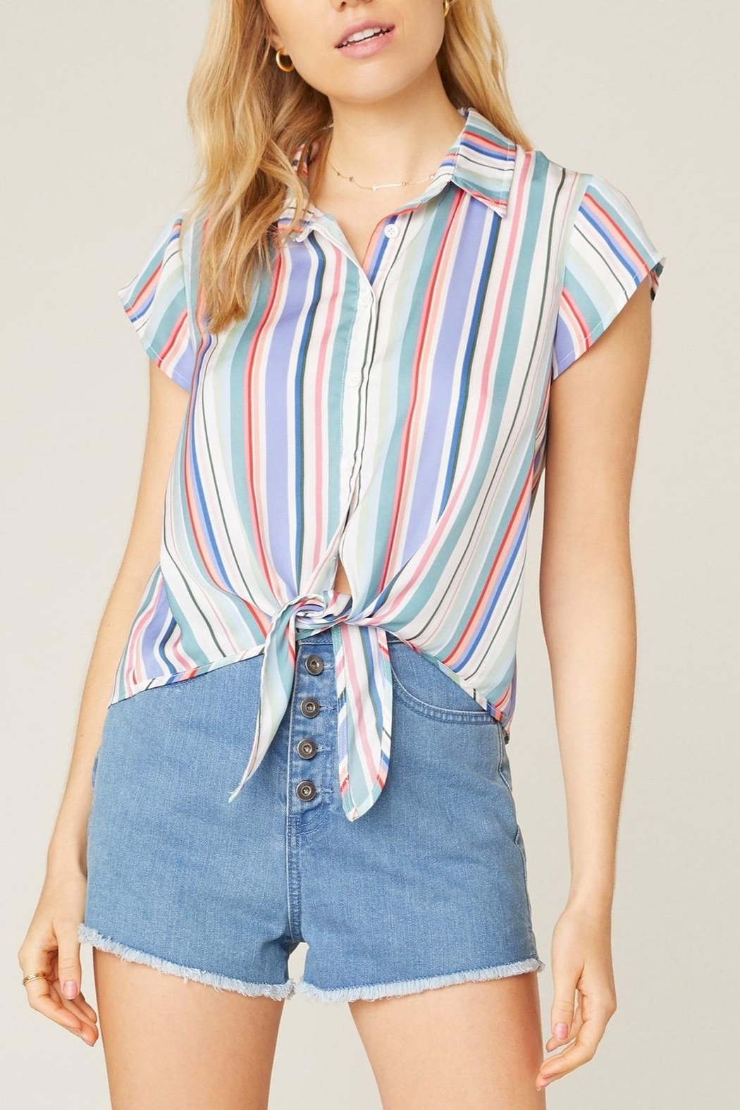 Jack by BB Dakota Shirt-Feelings Striped Blouse - Main Image