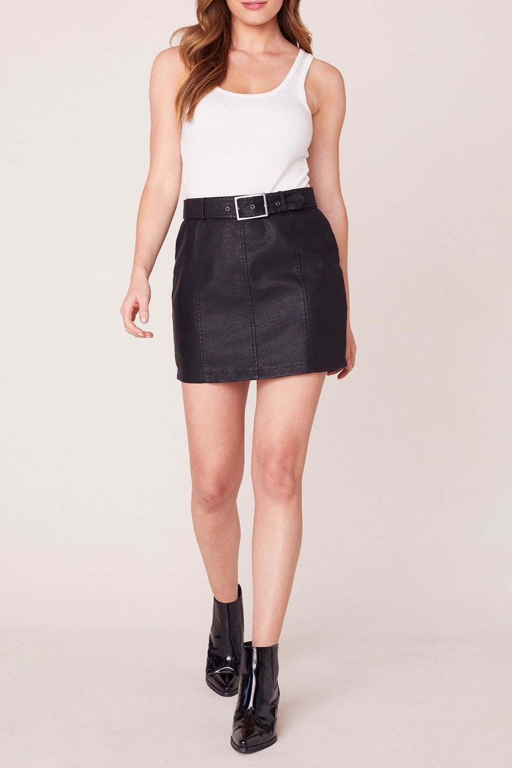 Jack by BB Dakota So-Edgy Vegan-Leather Skirt - Front Cropped Image