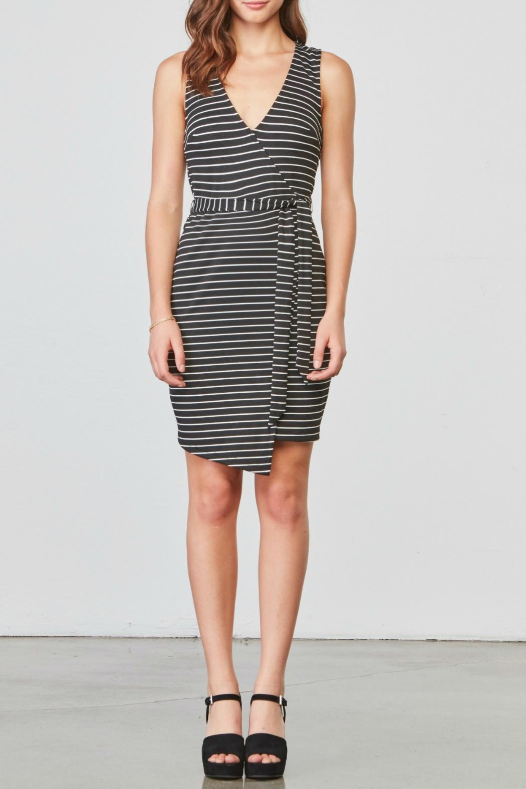 Jack by BB Dakota Stripe Belted Dress - Main Image