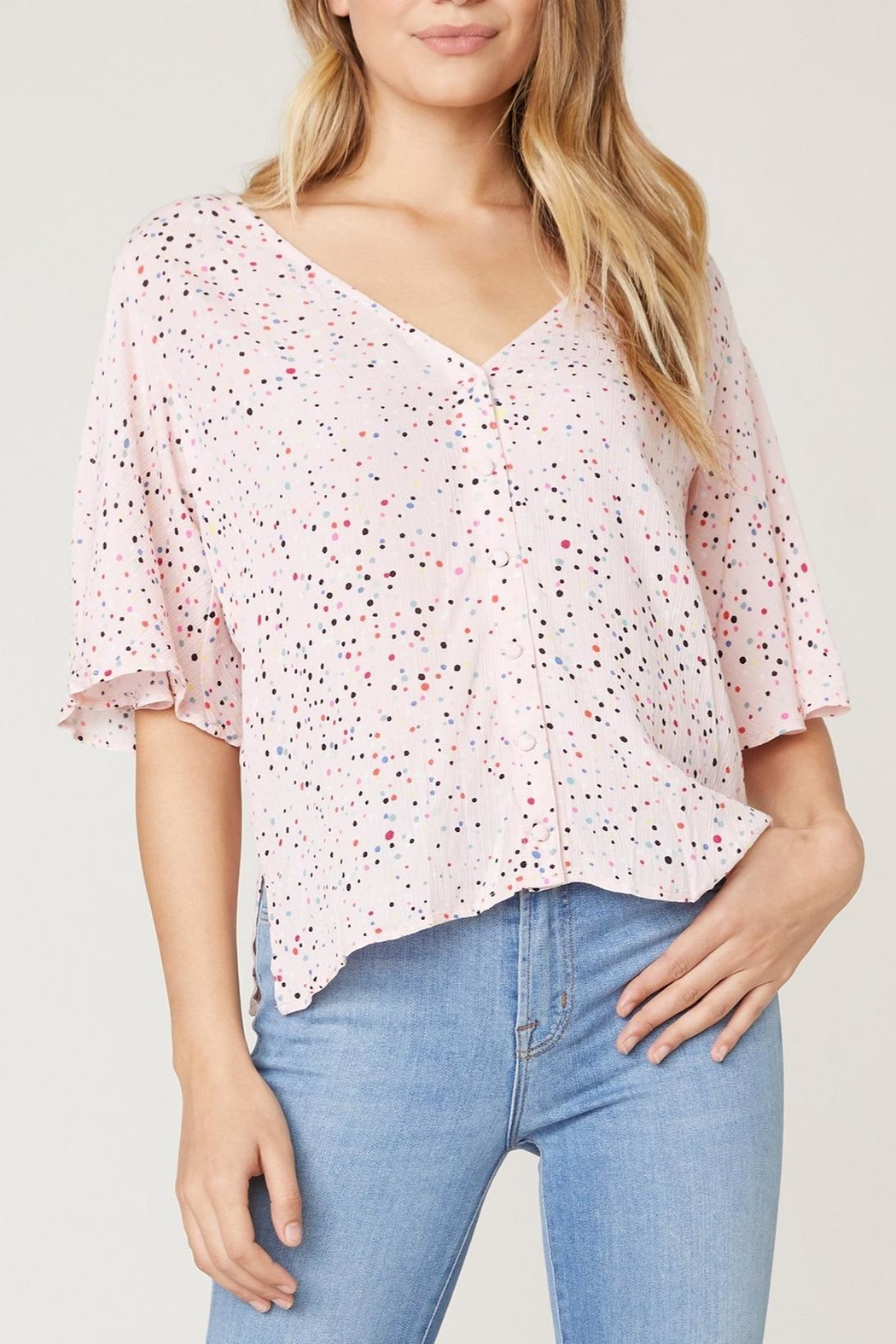 Jack by BB Dakota Surprise Party Blouse - Side Cropped Image