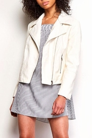 Jack by BB Dakota White Leather Jacket - Product Mini Image