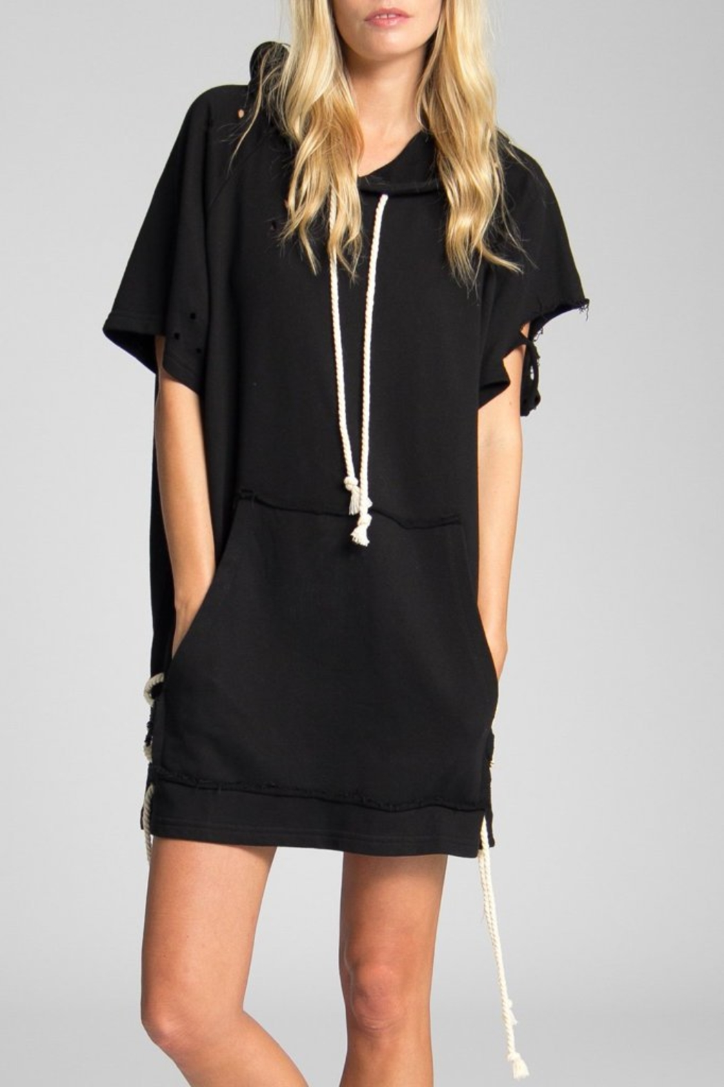 Jack Meets Kate Destroyed Sweatshirt Dress - Front Cropped Image