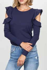 Jack Meets Kate Ruffle Cold-Shoulder Top - Product Mini Image