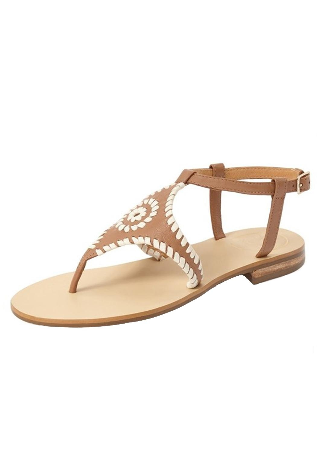 Jack Rogers Cognac Whipstiched Sandal - Main Image