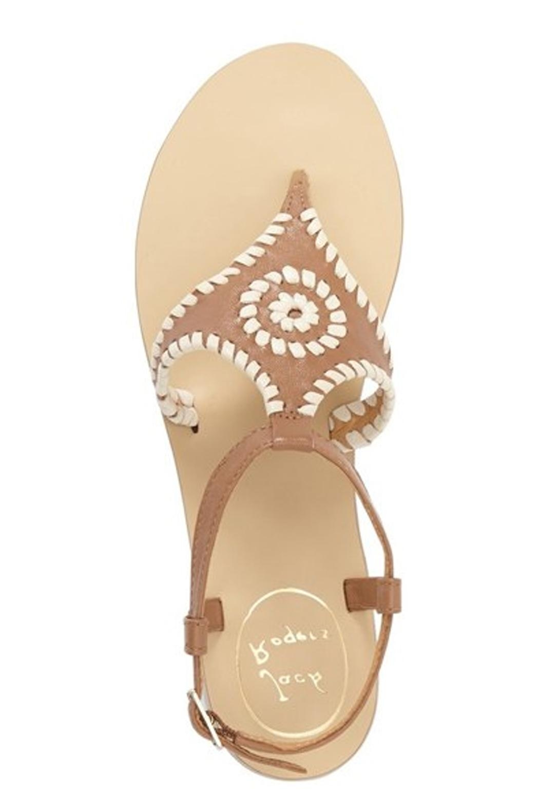Jack Rogers Cognac Whipstiched Sandal - Front Full Image