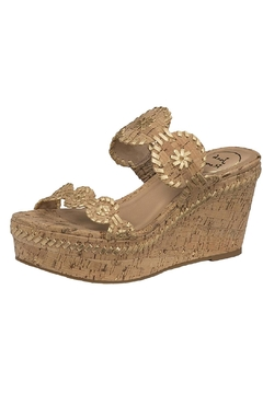 Shoptiques Product: Double Band Wedge Sandal